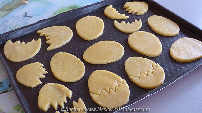 plaque de sablés oeufs biscuits de paques