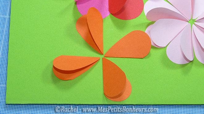Carte fleurs bricolage avec des coeurs pour la f te des m res - Coeur avec des photos ...