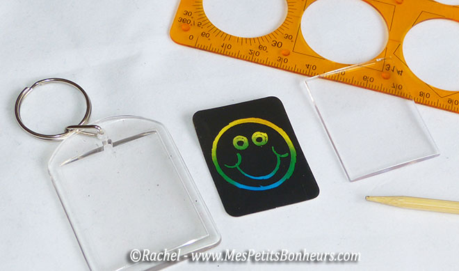 smiley carte à gratter