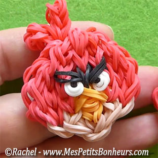 angry bird loom red