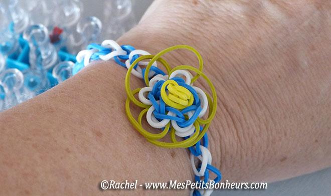 Bracelet elastique a fleurs