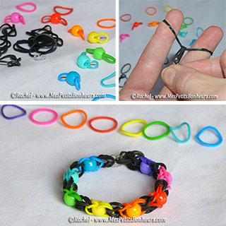 bracelets élastiques avec les doigts avec perles