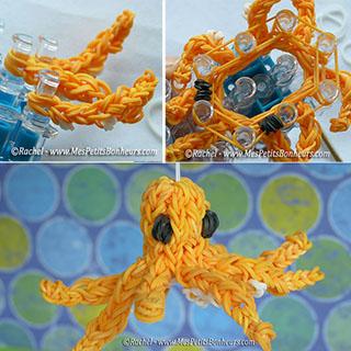 bricolage pieuvre en élastiques