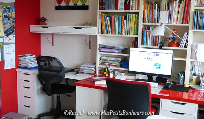Ma pi ce de loisirs cr atifs dans un bureau bien organis - Etageres metalliques castorama ...