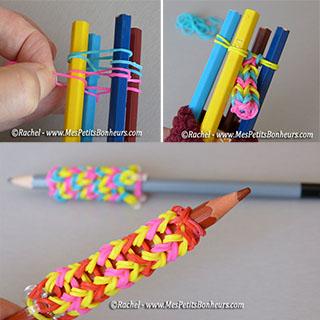 grip crayon avec tricotin a elastiques