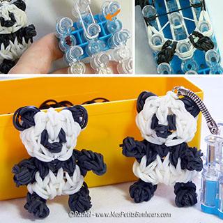 panda rainbow loom tuto