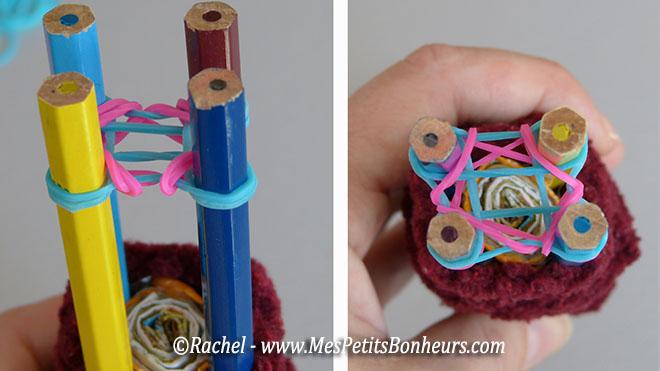 loom circulaire à 4 tiges, tricotin pour élastiques – fabrication