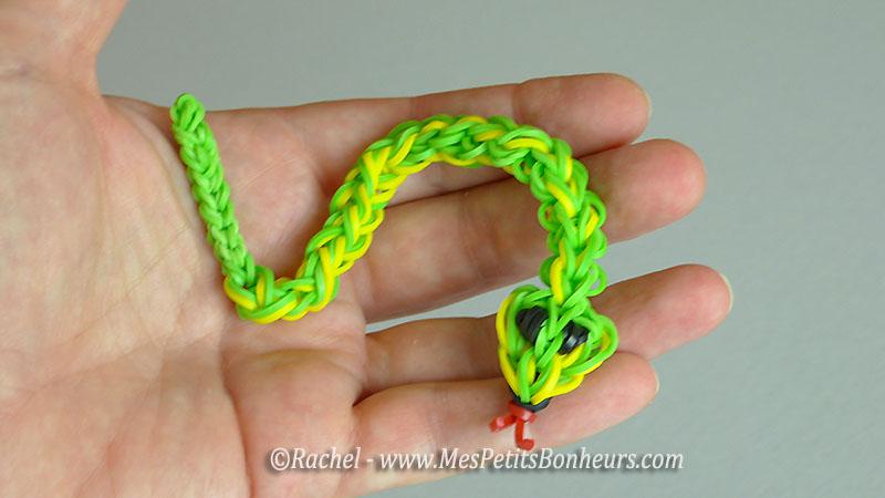 serpent elastique bricolage animal rainbow loom