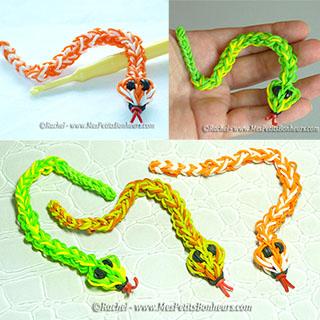 serpents animaux en elastiques