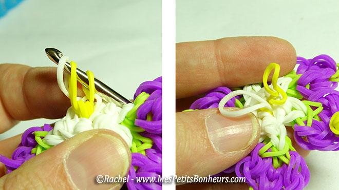 élastiques au dos de la fleur