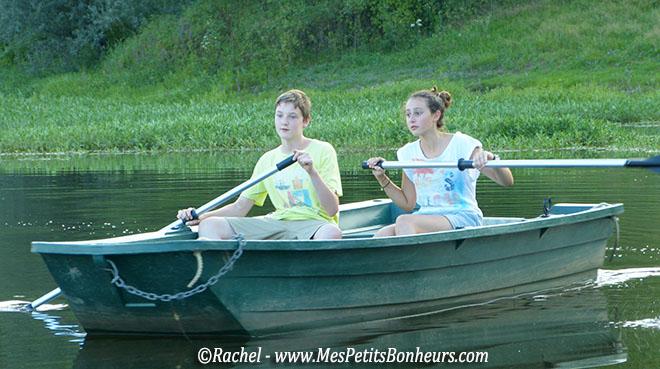 canotage sur l'étang
