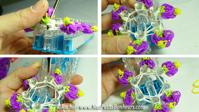 crocheter tour du centre de la fleur