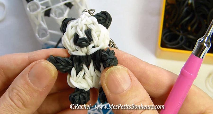 panda en élastiques rainbow loom, ma nouvelle création et ses tutos