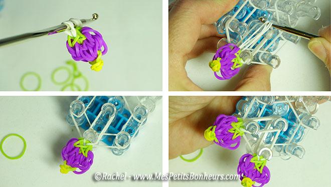 pose des pétales en élastiques sur la fleur