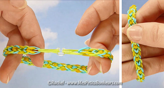 Explication bracelet elastique avec les doigts