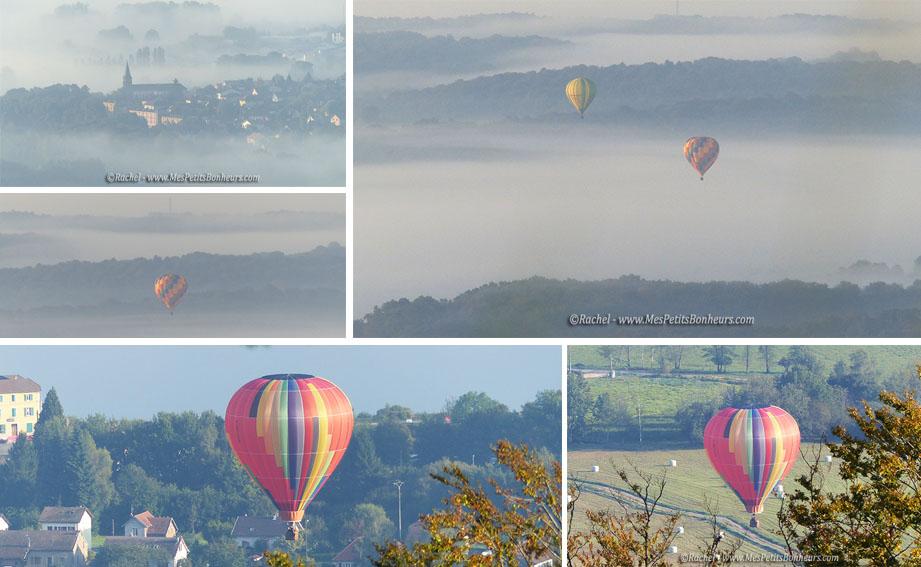Ballons du Territoires 2014 photos montgolfieres depuis mont salbert