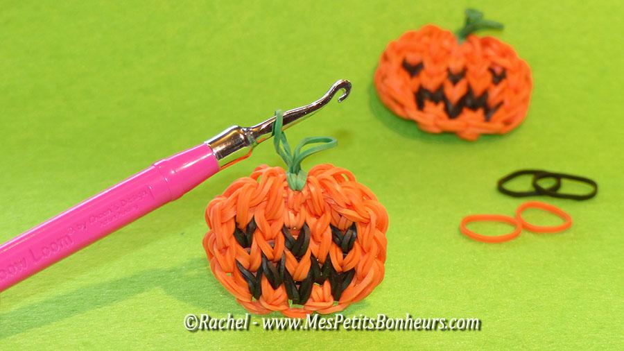 Citrouilles en lastiques activit avec les looms pour halloween - Bricolage pour halloween ...