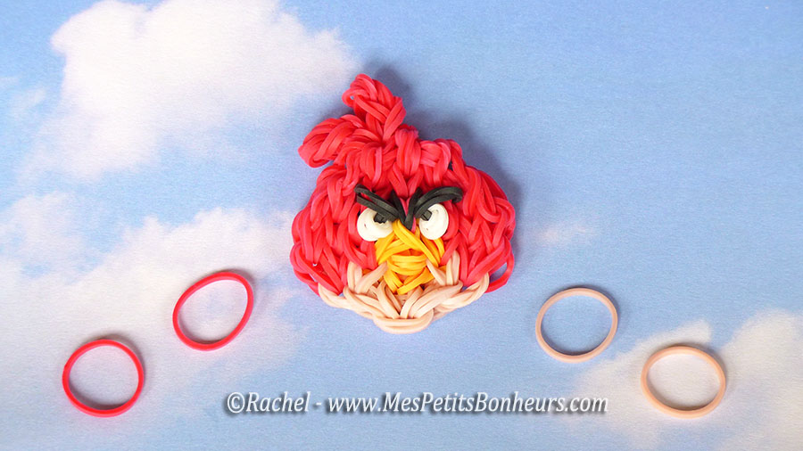 angry birds rainbow loom Red en élastiques
