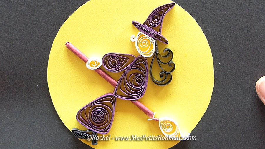 quilled witch - sorcière quilling tutoriel