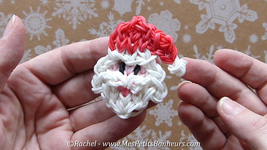 Pere Noel élastiques Rainbow Loom Santa Claus