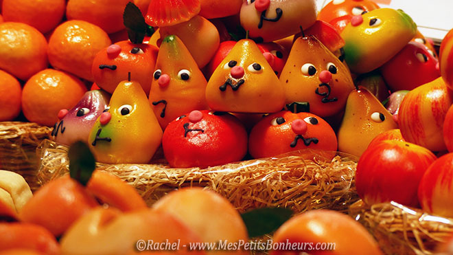 fruits pates d'amande