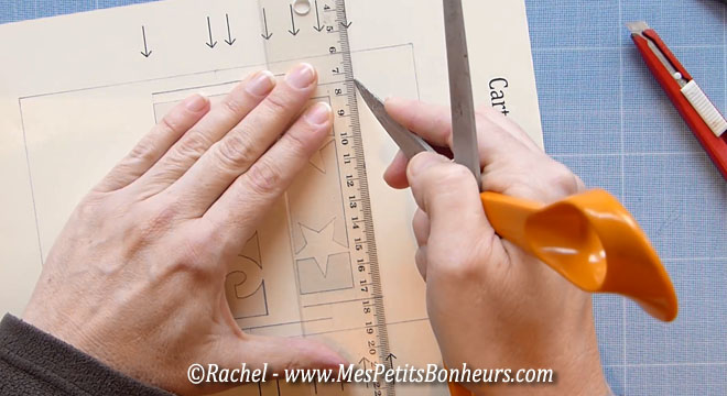 marquer les plis avec un objet pointu