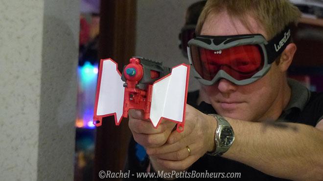 pistolet dual defender boomco de mattel