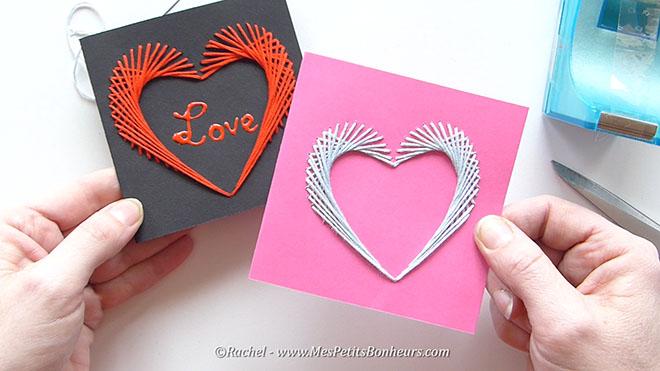 Carte cœur à broder pour Saint Valentin ou Fête des mères
