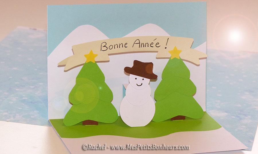 Carte pop up bonne ann e bricolage facile - Carte pop up a fabriquer ...