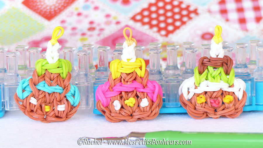 gateaux d'anniversaire rainbow loom birthday cakes