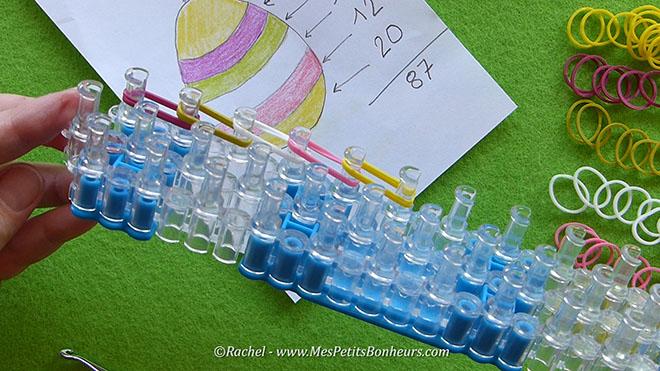 Tuto oeuf de paques en elastiques rainbow loom.Image fixe004
