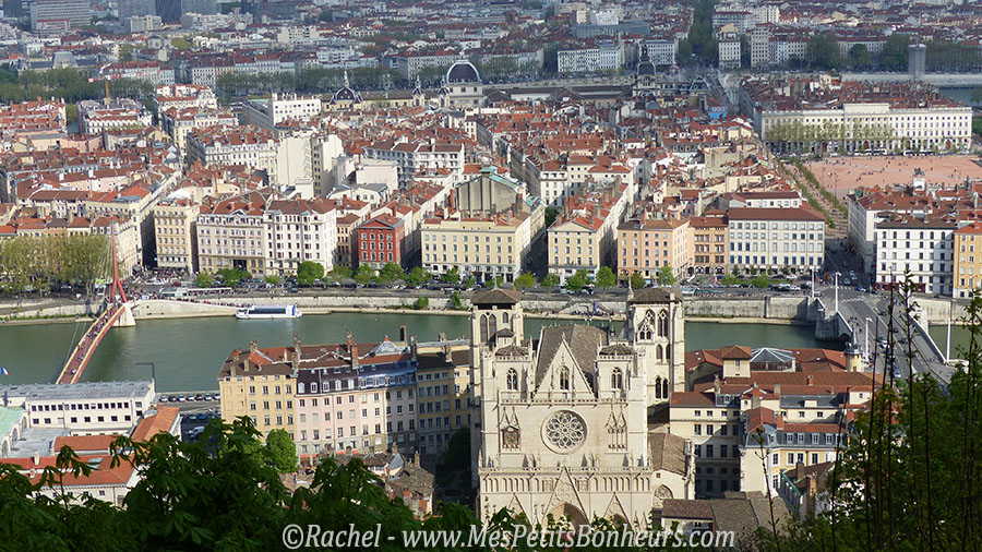 cathedrale et place bellecour vues de fourviere
