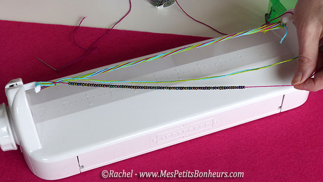 fil avec perles