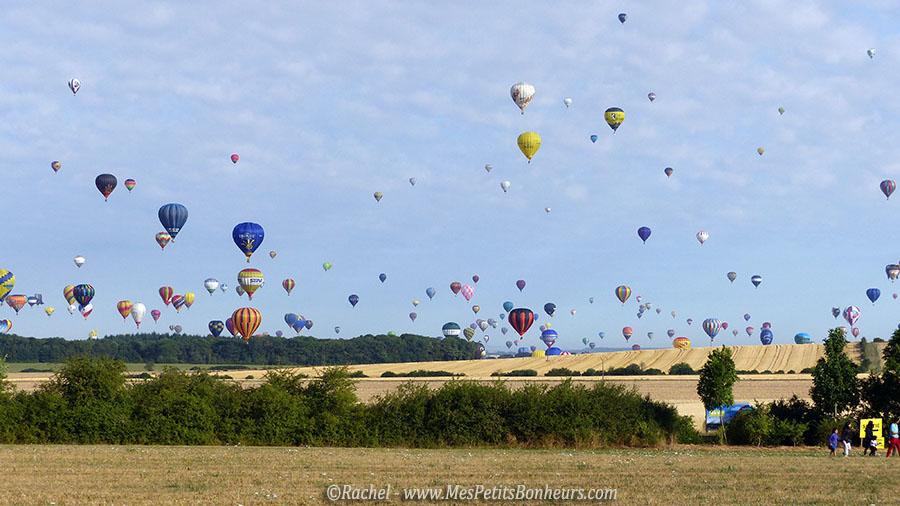 montgolfieres au dessus des champs