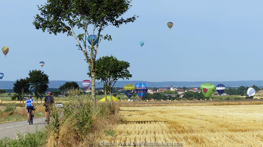 montgolfieres dans les champs