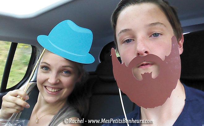 selfie chapeau et barbe