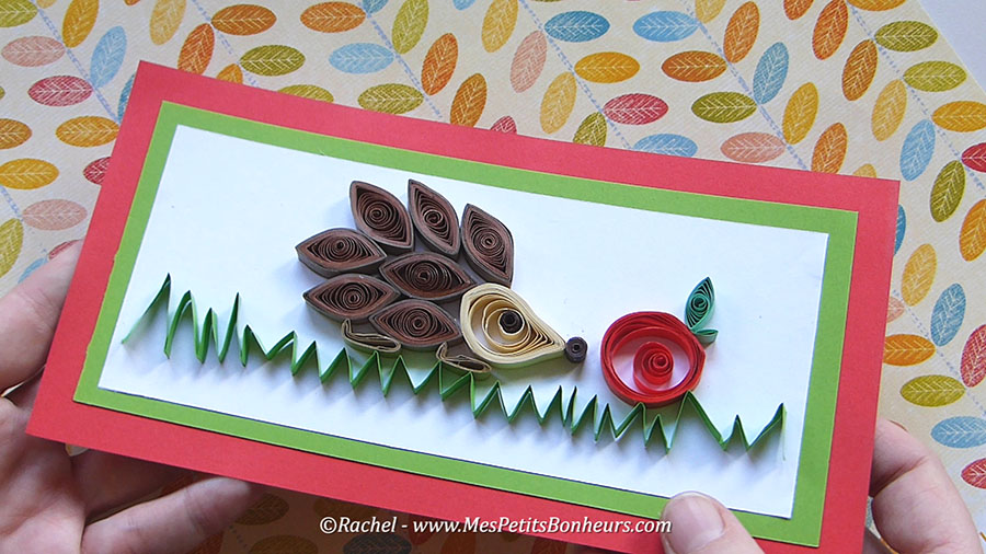 herisson quilling paperolles hedegehog craft idea