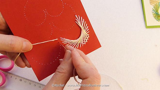 Sehr Carte Sapin de Noël brodé en fils tendus à imprimer – Tuto vidéo YD44