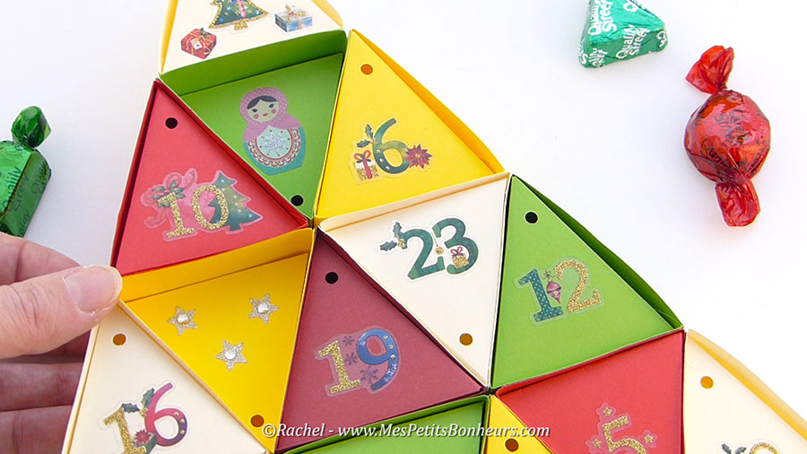 calendrier de l'avent cases vides décorées