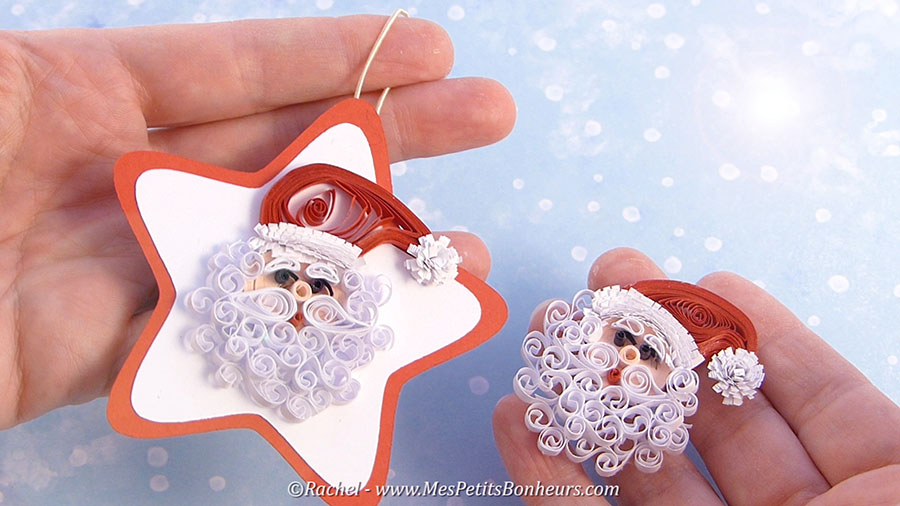 pere noel quilling paperolles quilled father christmas