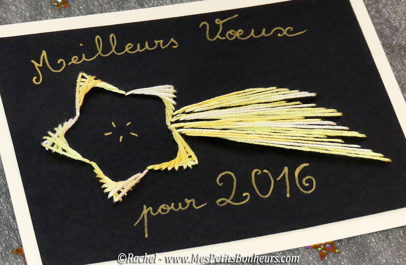 carte etoile bonne année 2016