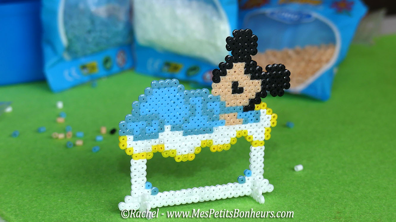mickey b b en perles hama mini mod le pour marque place. Black Bedroom Furniture Sets. Home Design Ideas