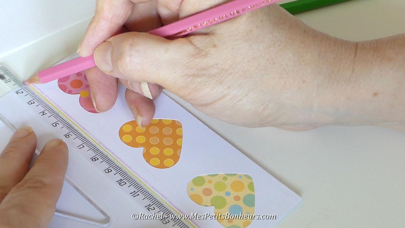 Carte coeurs fait main bricolage facile
