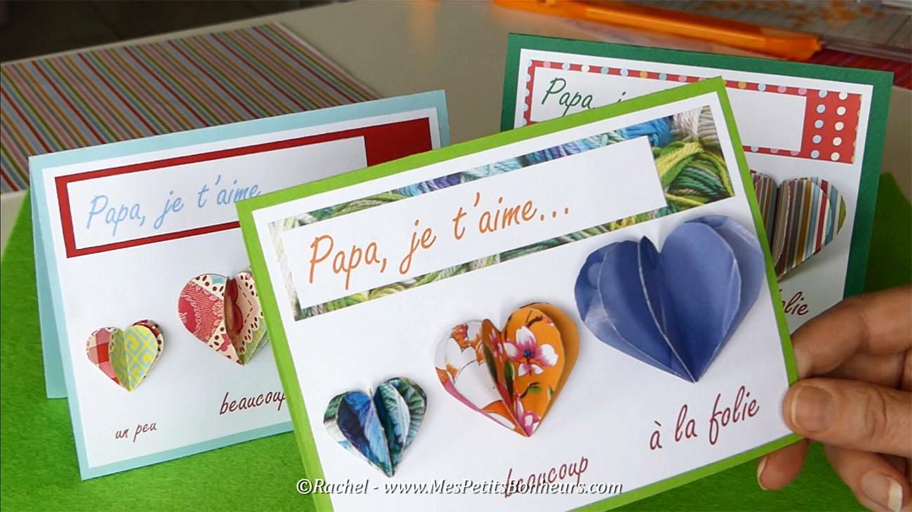 Carte f te des p res imprimer coeurs accordeons - Carte fete des peres maternelle ...