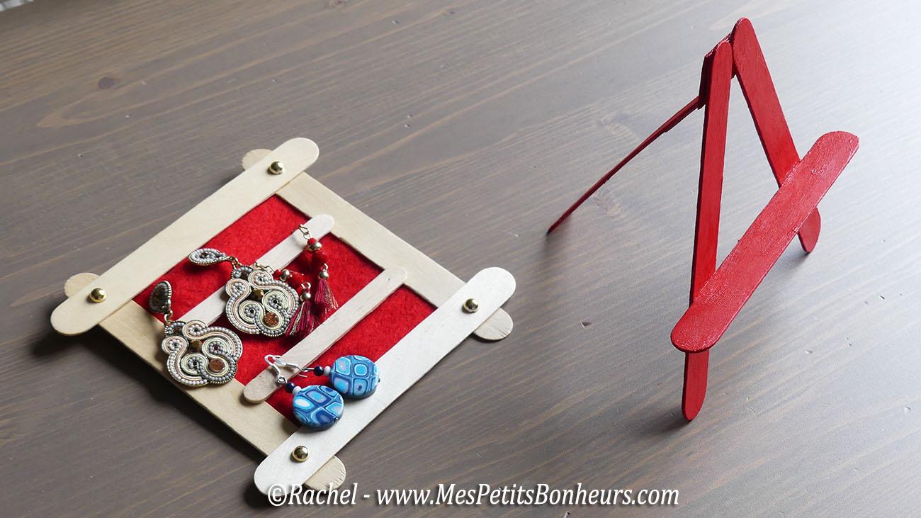 bricolage en b tonnets cadre et chevalet pour boucles d oreilles. Black Bedroom Furniture Sets. Home Design Ideas