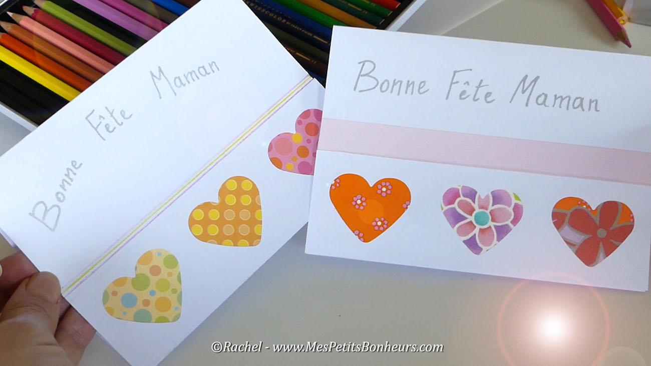 cartes fete des mere rapide facile
