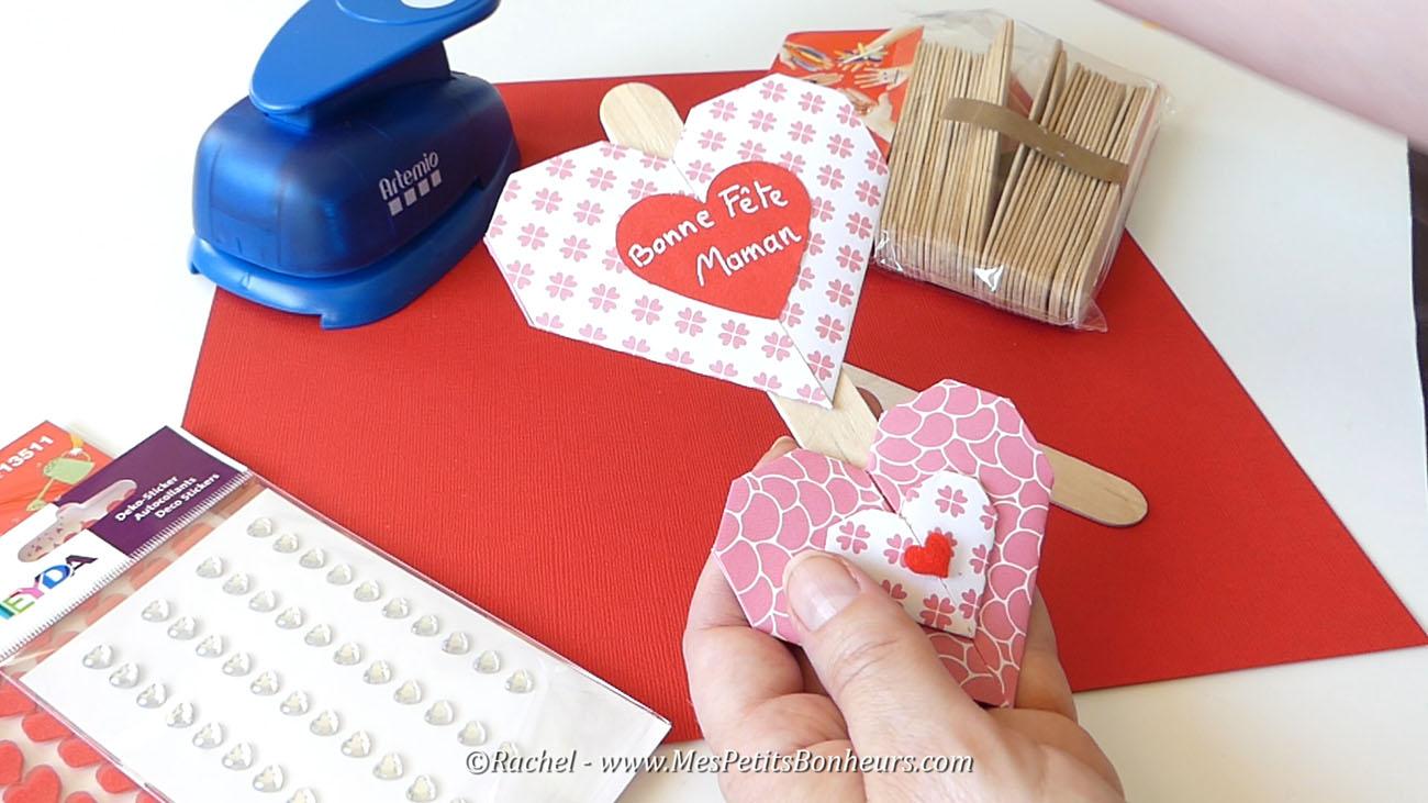 coeur bricolage papier enfant fete des meres