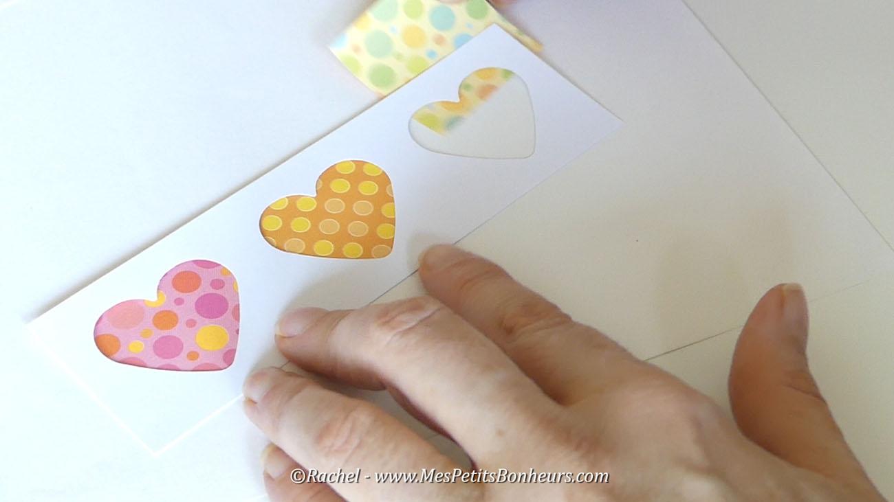 fabrication carte coeurs fete des mamans