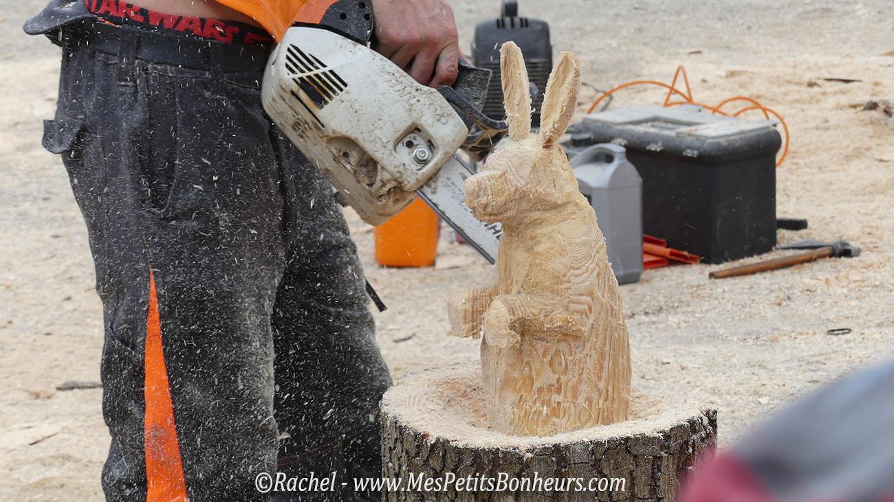 grandvillars championnat sculpture tronconneuse lapin