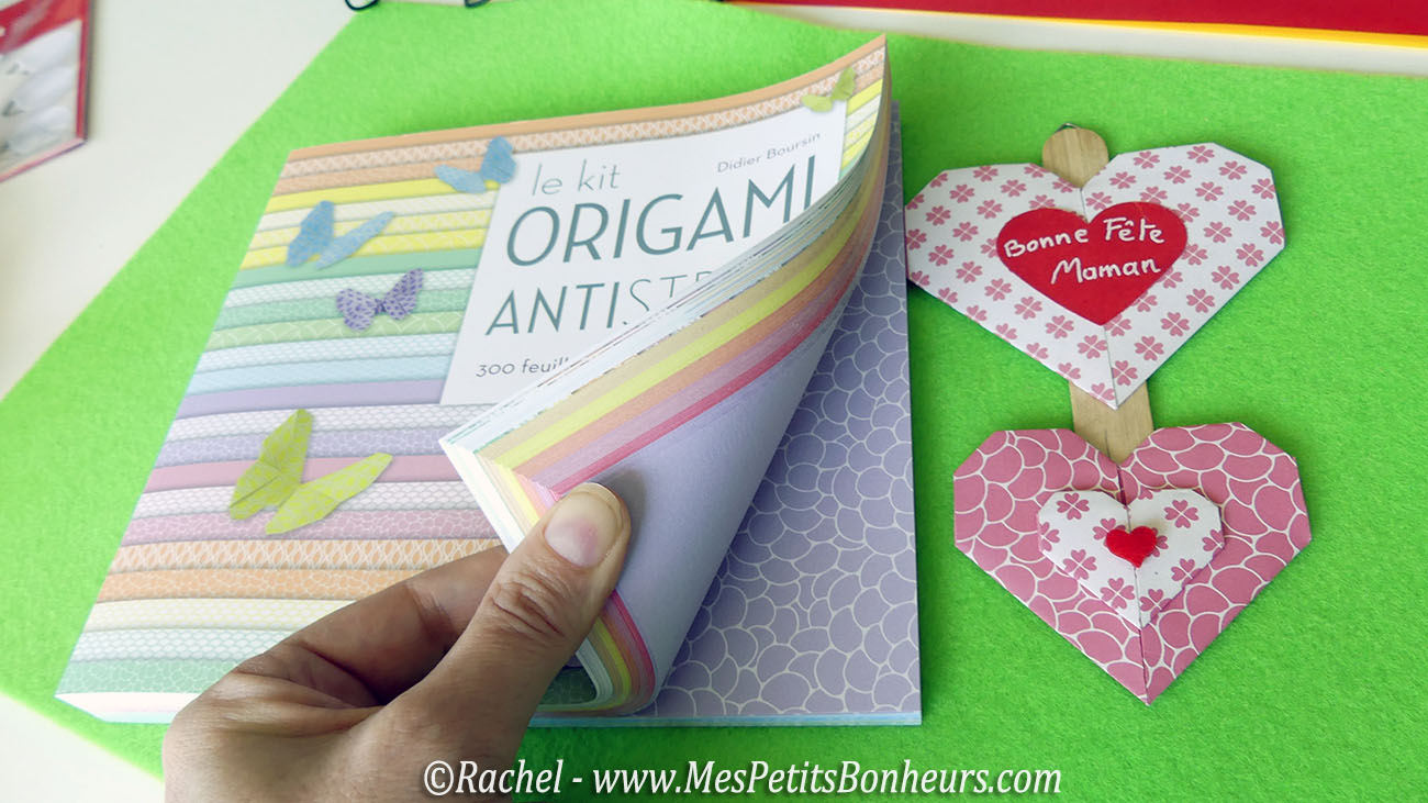 livre kit origami antistress